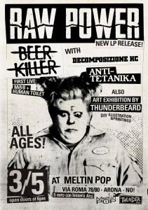 03 maggio 2014 - ore 21:00 Anti-Tetanika + Raw Power + Beer Killer + Decomposizione HC @ Meltin' Pop - Arona (NO)